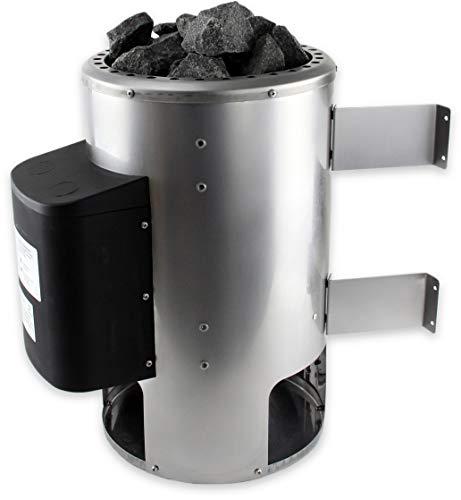 SULENO Saunaofen OULU 3,6 kW 230V Edelstahl mit 20 kg Saunasteine