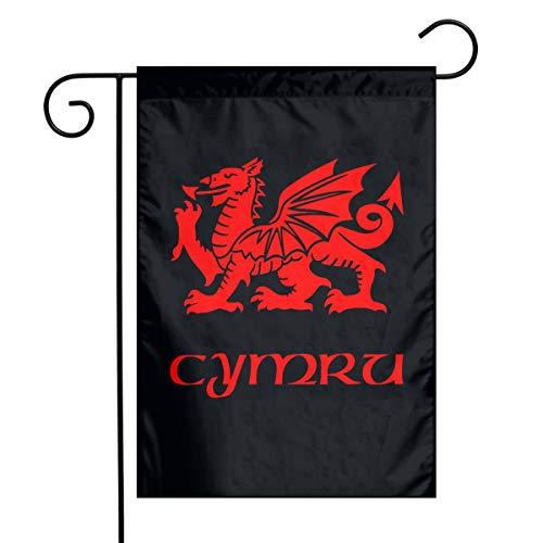 WU4FAAR Niedlicher Hund Shibe Doge 30,5 x 45,7 cm Floral Garten Hof Flagge Banner für Zuhause Dekoration Haus Hof Schild, Wales Walisischer Drachenhof-Flagge., 12