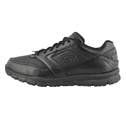 Skechers for Work Men's Nampa Food Service Shoe,black polyurethane,12 M US