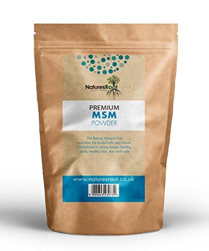 Natures Root MSM Powder 125 g - Metisulfonimetano - Polvo Puro 99,9%