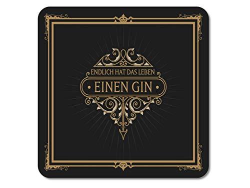 Interluxe lichtgevende led-onderzetter - Eindelijk heeft het leven een gin-tafeldecoratie bardecoratie voor gin-tonic als gastgeschenk, verjaardagscadeau