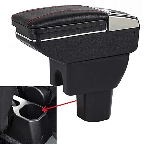 SZSS-CAR - Vano portaoggetti con bracciolo in pelle da montare alla console centrale dell'auto