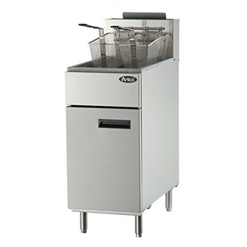 Atosa USA ATFS-40 Heavy Duty 40 LB Stainless Steel Deep Fryer - Propane