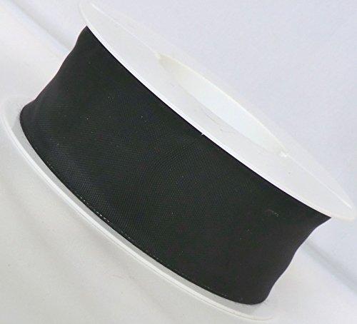 Trauerband 25m x 40mm SCHWARZ Dekoband mit Draht Schleifenband Trauerschleife [2120]