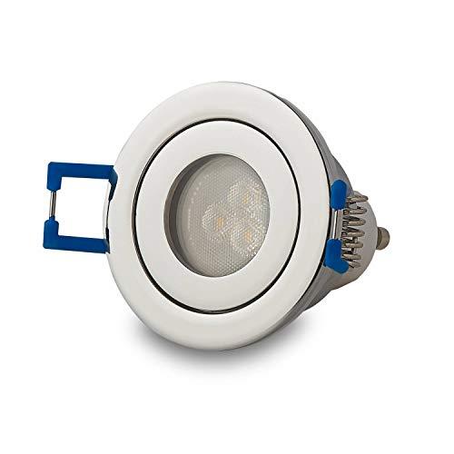 LED Einbau-Strahler 230V GU11 Bad Chrom 3W warmweiß 40mm IP44 Feuchtraum Spot Lampe Badbeleuchtung Deckenspot