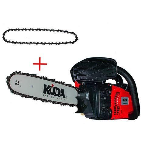 """KUDA 2 Motosierra Podadora de Gasolina 25,4CC Espada 12""""-30cms 3,45Kg com 1 Cadena Extra"""