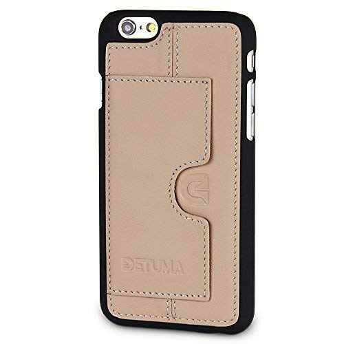 DETUMA - Funda de Piel para iPhone 6S/6 con Tarjetero, Compatible con Apple iPhone 6S / iPhone 6 (Fabricado en Piel.), Color Multicolor