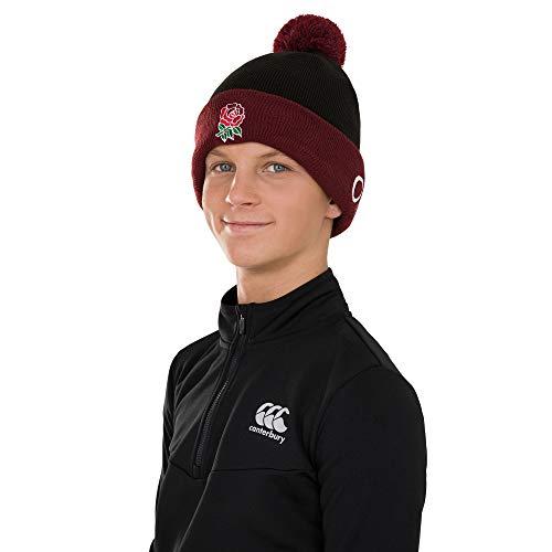 Canterbury Men's England Acrylic Bobble Hat, Black, One Size