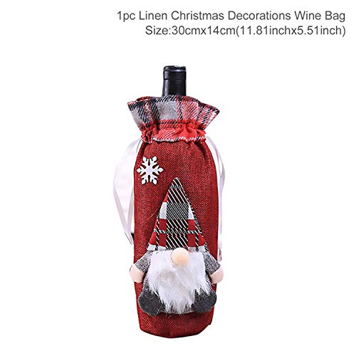 Sweet-Cupid Christmas Wine Bottle Cover Christmas Decorations for Home Santa Claus Christmas Ornament Table Decor Navidad Gift,29-3