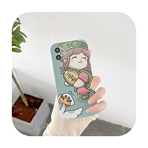 Dibujos animados chica pato lindo suave a prueba de golpes teléfono caso para el iPhone 7 8 Plus X XS XR MAX 11 Pro 2020 SE dibujos animados animales cubierta A-para iphone 8Plus