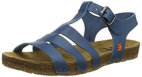 Art Creta, Sandalias con Punta Abierta Mujer, Azul (Jeans Jeans), 38 EU