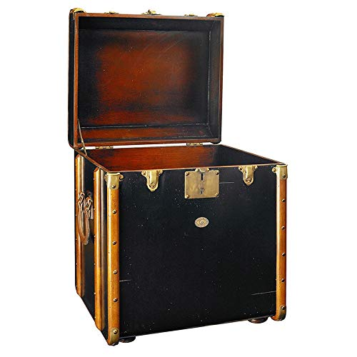 Authentic Models Stateroom End Table, Black