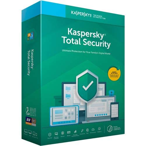 Kaspersky Total Security 2019 Software, 3 Devices, 1-Year License, Key Card Code