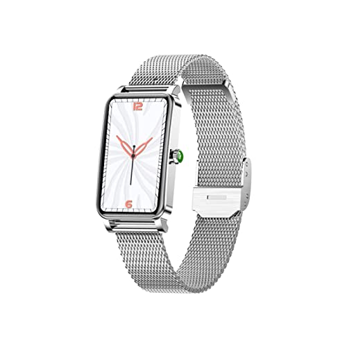 l b s Reloj inteligente, pantalla táctil Ip67 impermeable, con detección de frecuencia cardíaca y presión arterial, rastreador de actividad de salud, compatible con Android IOS (oro) (plata)