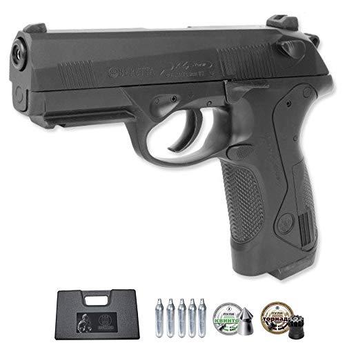 Beretta PX4 Storm (blowback) | Pistola de balines (perdigones) semiautomática con corredera móvil. Sistema: Aire comprimido por CO2. Incluye maletín y munición