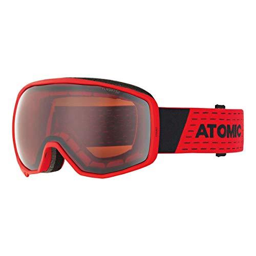 Atomic Unisex All Mountain-Skibrille Count Flash, für durchschnittliche Lichtverhältnisse, Sphärische Doppelscheibe, Kompatibel mit Brille, rot/silber Flash, AN5105642