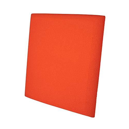 Pannello Fonoassorbente Curve 5cm Verniciato Arancio puro - 50x50cm - Pacco da 4(1m²)