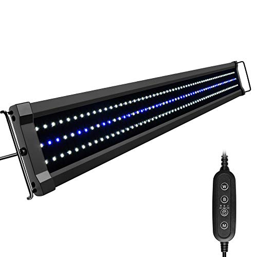 NICREW ClassicLED G2 Aquarium Beleuchtung, Steuerbar LED Lampe mit Mondlicht, IP67 Wasserdicht für Süßwasser-Aquarien