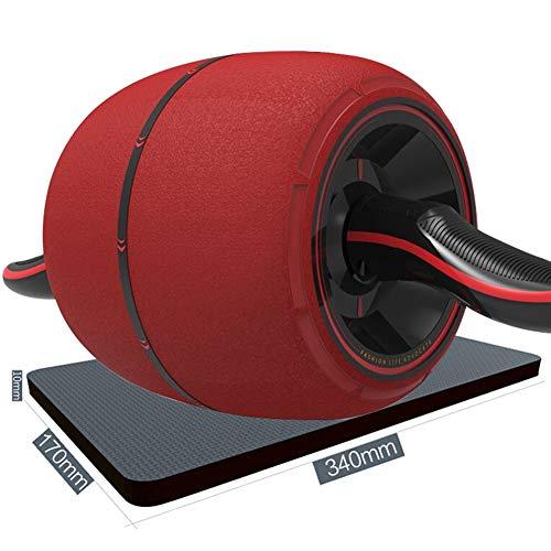 JIANFEI Roller Abdominales Freno Inteligente Acero Inoxidable Mango Antideslizante, 2 Colores, Tipo 2 (Color : Red, Tamaño : A-43.7x19x19cm)