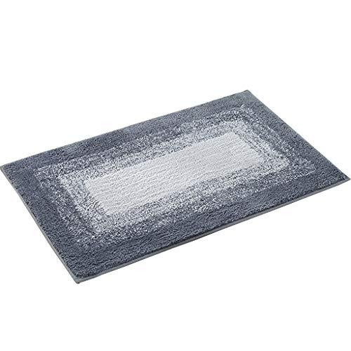 Best Review Of CarPet Inlet Door mats Bathroom Absorbent mats Non-Slip (Color : Gray, Size : 5080cm)