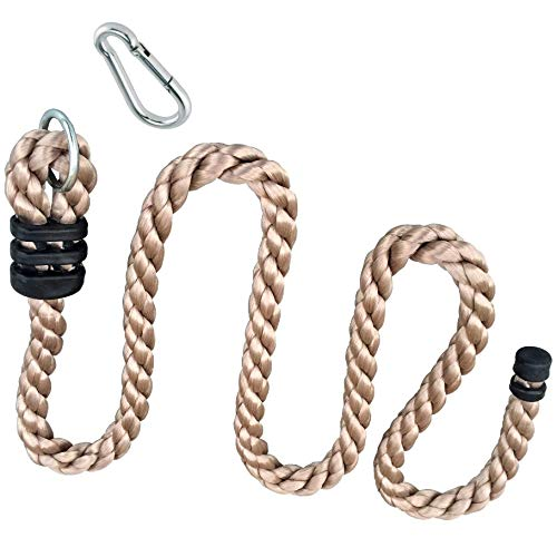 h2i Kinder Kletterseil Knotenseil von 200 cm bis 800 cm mit und ohne Knoten incl. Karabiner zum Einhängen (2,0 m Ø 26 mm 0 Knoten)