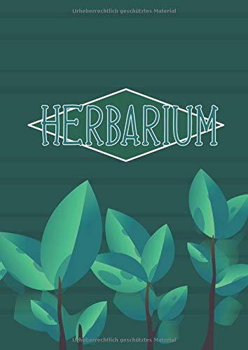 Herbarium: Sammelalbum zur Pflanzenbestimmung - 120 Seiten, DIN A4, Leer