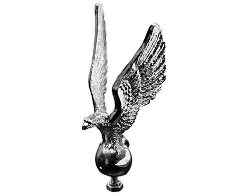 Unbekannt Statue Stehend Adler Verchromt Kotflügel Ornament Kühlerfigur Maskottchen