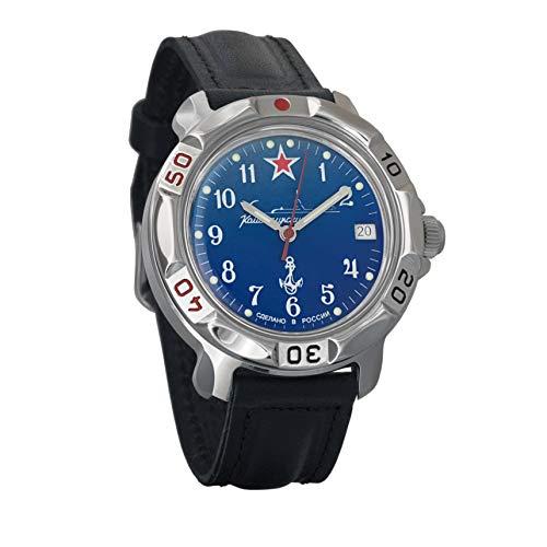 Vostok Komandirskie Submarine Ejército mecánico para hombre Comandante Militar reloj #811289
