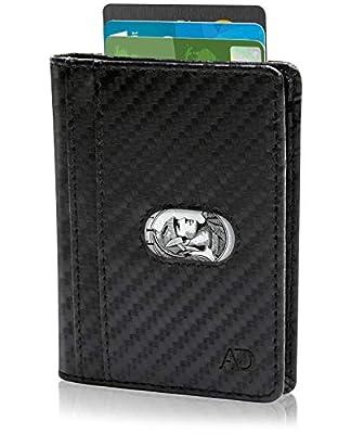 Slim Bifold Wallets For Men - Minimalist Leather Front Pocket RFID Card Holder Travel Thin Wallet