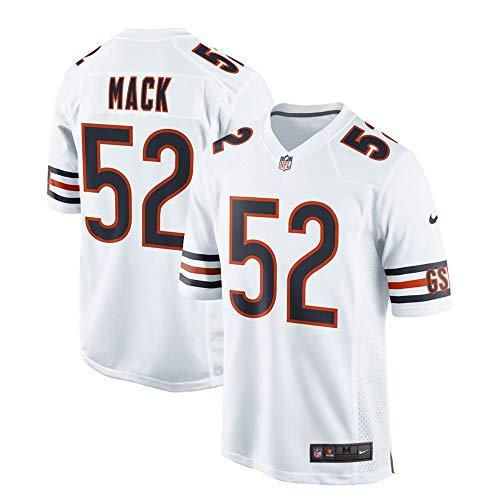 Nike Khalil Mack Chicago Bears NFL Boys Youth 8-20 White Road On-Field Game Day Jersey (Youth Medium 10-12)