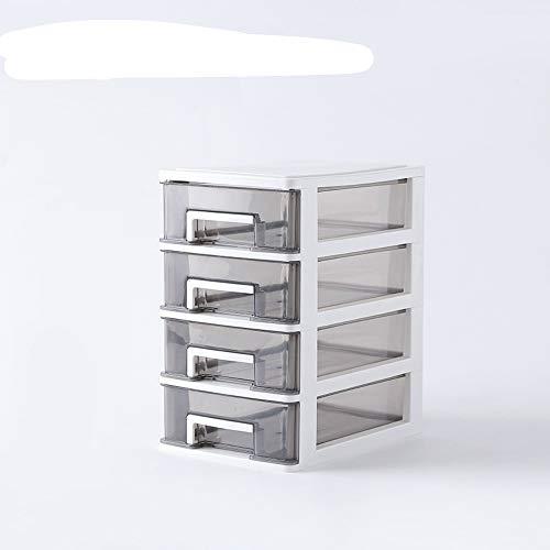 donfhfey827 Transparente Desktop-Aufbewahrungsbox kleine Schublade Schreibtisch Aufbewahrungsschrank Kunststoff Mini Aufbewahrungsbox kosmetische Aufbewahrungsbox