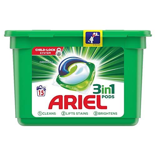 Ariel - Cialde detergenti 3 in 1, regolari 15