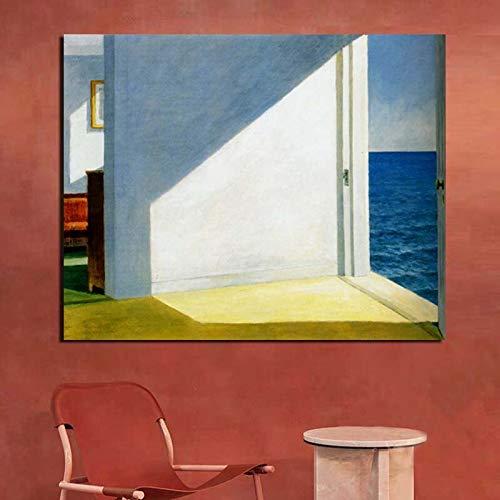SDFSD Edward Hopper Zimmer am Meer Wandkunst Leinwand Malerei Poster Drucke Moderne Malerei Wandbilder für Wohnzimmer Home Decor 60X80CM