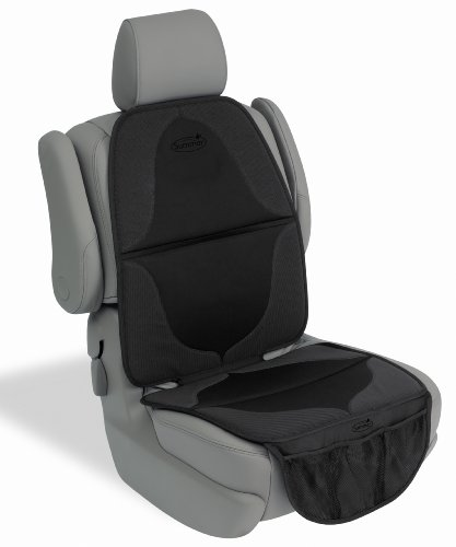 Summer ELITE DuoMat Car Seat Protector, Black - Premium Waterproof Seat Cover Pad with Storage Pockets