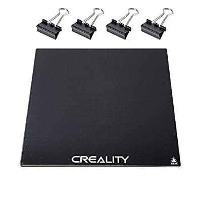 Upgraded Creality Ender 3 Glass Bed with 4 Dovetail Clips, 3D Printer Platform Glass Plate for Ender-3, Ender-3 Pro, Ender-3X, Ender-5, CR-20 and CR-20 Pro, 235x235x4mm