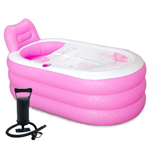 MZ Opblaasbare Opvouwbare Badkuip, Verdikte Volwassen Enkele Plastic Tub, Mini Bad Tub Huishoudelijke Hand Pomp