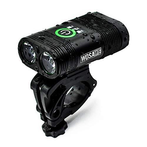 Fahrradbeleuchtung USB integrierte Funktion integriert Doppelscheinwerfer LED-Leuchten wasserdicht 2400 Lumen 5 Modi mit Anzeige Antriebsausrüstung Lade Huangwei7210
