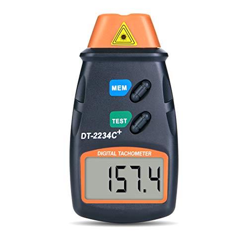 AGPtek® Tacómetro digital profesional láser fotográfico sin contacto RPM...