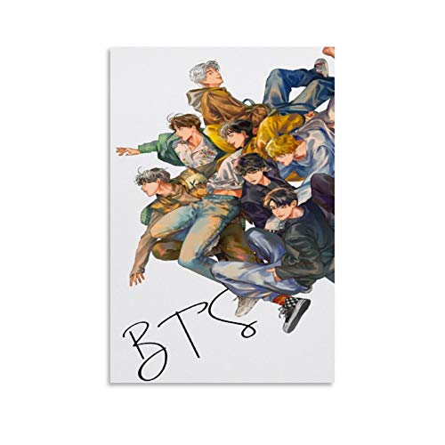 ZHIYONG Popular Group Posters BTS Kim Taehyung Dan Jeon Jungkook Art Poster Decorative Painting Canvas Wall Art Living Room Posters Bedroom Painting 08x12inch(20x30cm)