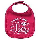 ClickInk Babero bebé Vais a ser tíos. Regalos para bebés. Regalo divertido. Regalo tía. Regalo tíos. Babero bebé algodón. (Fucsia)