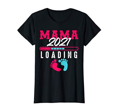Donna Ladies Mama 2021 carica la prole delle future mamme Maglietta
