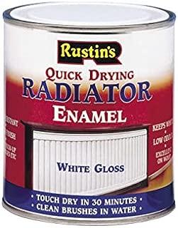 Rustins - Quick Dry Radiator Enamel Paint, Gloss White 500ml