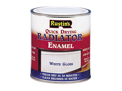 Rustins - Quick Dry Radiator Enamel Paint, Gloss White 500ml