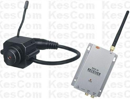 KesCom® 203N Mini Farb Funk Kamera Security Überwachung , Kanal 1 bis 4 erhältlich (nicht einstellbar) inkl. 4 Kanal Empfänger 2,4 GHZ