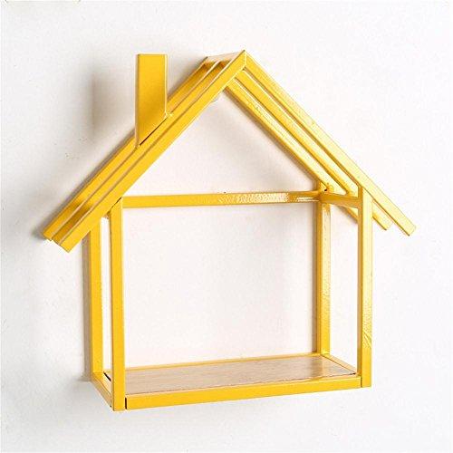 Kreative einfache moderne Haupteisenhaus-Gestell-Wand-Dekoration , yellow