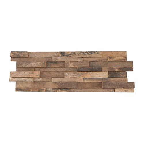 Parement mural en bois recyclé ultra vieilli - 10 pcs