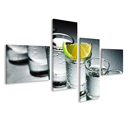 islandburner Bild Bilder auf Leinwand Tequila Shots Cocktails Bar Drinks Poster, Leinwandbild, Wandbilder