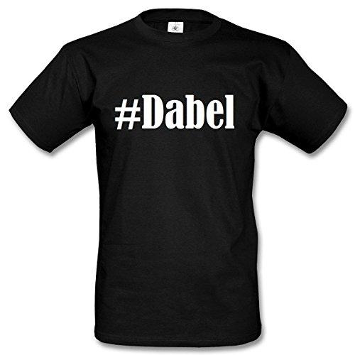 T-Shirt #Dabel Größe S Farbe Schwarz Druck Weiss