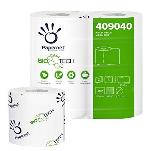 Papernet 409040, Carta Igienica Fascettata Bio Tech, Bianco, 24 confezioni