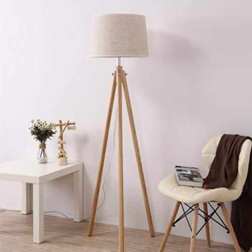 LDD-vloerlamp creatieve massief hout drie voeten staande lamp woonkamer slaapkamer decoratie bureaulamp staande lamp 12-24